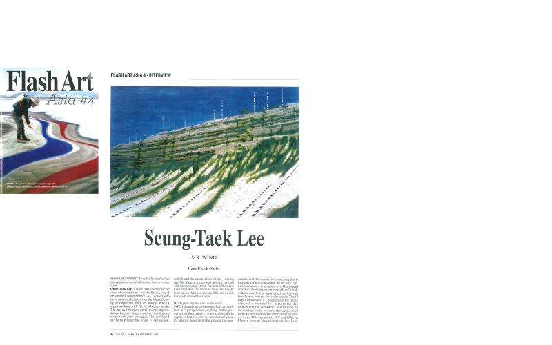 [2013 Flash Art (Jan-Feb)] Seung-taek Lee:  MR. WIND